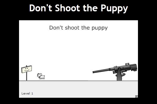 Ne tirez pas sur le chient