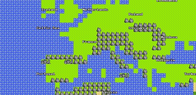 La Google Map en 8 Bits