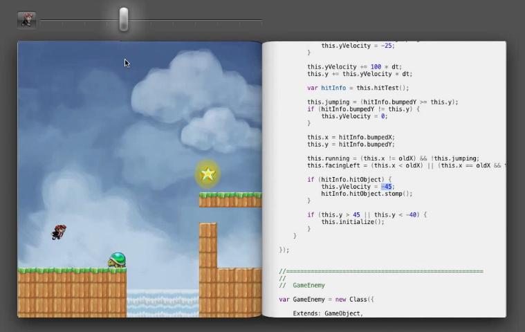 Une interface de développement dynamique en HTML5/Javascript