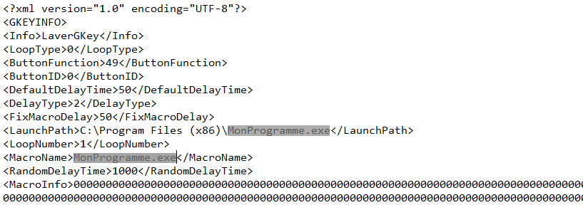 Modifier le fichier xml exporte